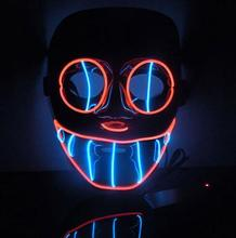 New Year Flash El Wire Led Glowing Beauty Christmas Party Mask Hot Sale