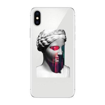 Alternative statue art motif TPU téléphone portable étui pour iphone 8 7 6 6S plus X xr Xs Max 5 5s 11 pro max couverture Conque 2