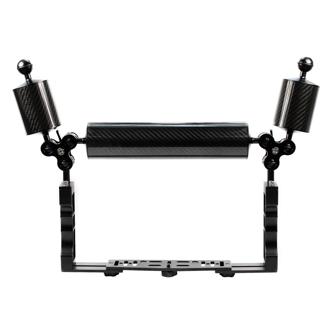 Aluminum Diving Underwater Tray Kit Light Extension Arm Bracket System With Handle Grip Stabilizer Rig Sports SLR Camera Housing