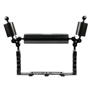 Image 2 - XT XINTE Aluminum Underwater Diving Tray Kit Light Extension Arm Bracket System with Handle Grip Stabilizer Rig Sport SLR Camera