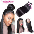 360 Lace Frontal With Bundle Straight Hair With Frontal Human Hair Bundles With Closure Straight Virgin Hair With Closure