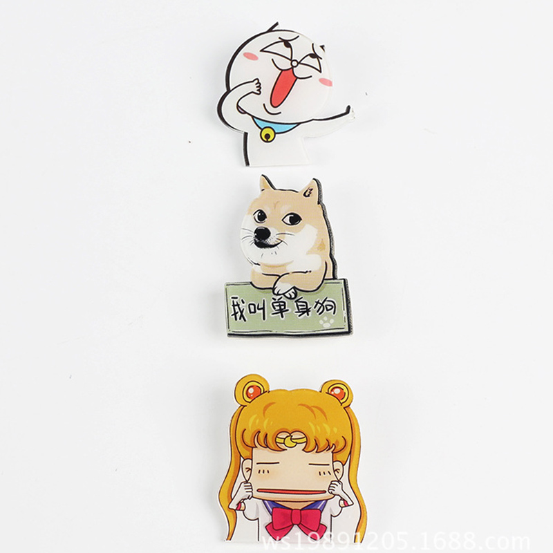 a93d06d0b Aliexpress.com : Buy 5pcs/lot Funny Cartoon Set Brooches Cool brooches pins  for women men fashion animate printed badge Scarf Clip jewelry #JO004 from  ...