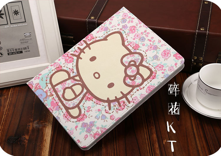 for case ipad 2018 2017 Cute Cartoon Folio Stand Smart Cover Auto Wake Up Sleep For ipad Air 1 Air 2 case Flip Stand Shell in Tablets e Books Case from Computer Office
