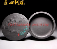 5 Cover Ink Grinding Stone She Inkstone Calligraphy Painting Sumi E Tool