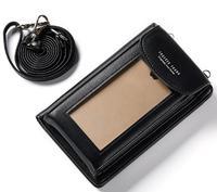 Shoulder Belt Touch Screen Mobile Phone PU Case For Xiaomi Redmi Note 5A Prime Mi 5X