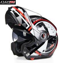 LS2 Flip up Modular Motorcycle Helmet Moto Full Open Face Motobike 370E Motocicleta Cacapete Casco Casque Kask Men Helmets