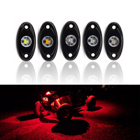 4 Pods Led Rock Lights Waterproof Underglow Led Trail Rig Lights Universal Fits For Car Trunk Boat Offroad Underbody Tire Lamp