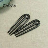 Ancient Sandalwood Chinese Hair Stick M Shape Women Jewelry Headwear Head Jewerly Gift Hair Stick Luxurious