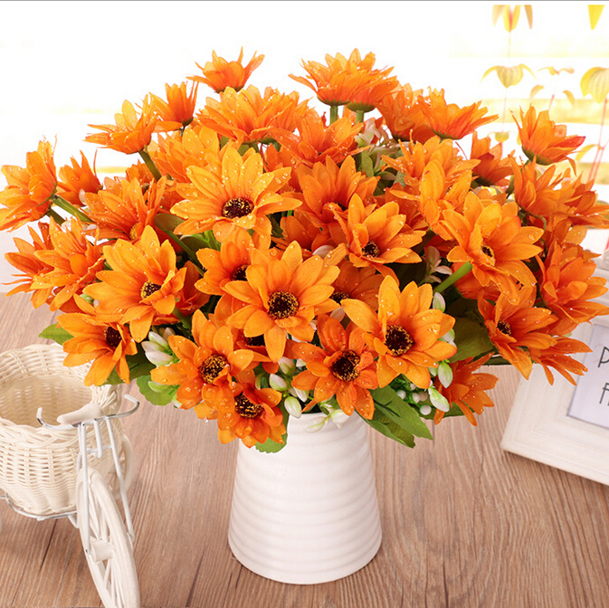 Realistic bouquet gerbera daisy artificial flowers with fake water realistic bouquet gerbera daisy artificial flowers with fake water droplets decoration craft wholesale silk flowers in artificial dried flowers from home mightylinksfo