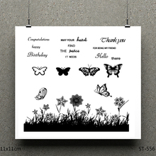 ZhuoAng Butterfly design stamp / scrapbook rubber stamp / craft clear stamp card / seamless stamp цена