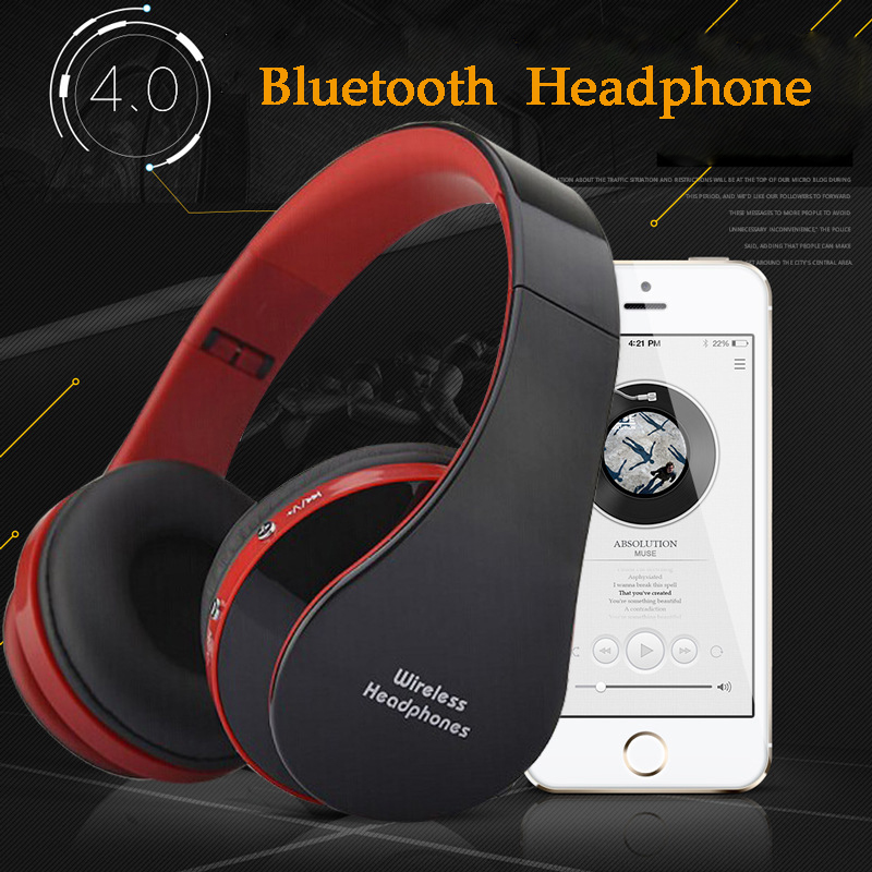 Active Noise Cancelling Bluetooth Headphones Wireless Wired Headset Deep bass stereo Headphones with Microphone for phone cuffie magift bluetooth headphones wireless wired headset with microphone for sports mobile phone laptop free russia local delivery hot