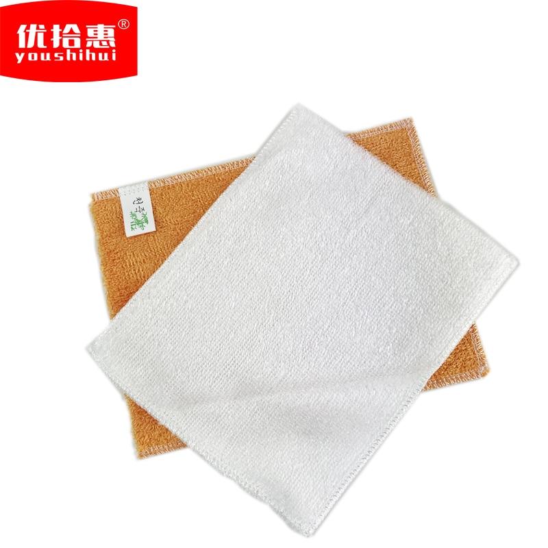 2 PCS Bamboo Fiber Cleaning Towel Oil Clean Good Lint free ...