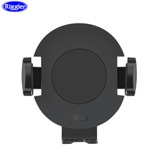 Auto Clamp Infrared Car Wireless Charger Riggler 10W Fast Charge Mount for IPhone XS MAX X 8 Plus Samsung S9 360 Degree Rotation
