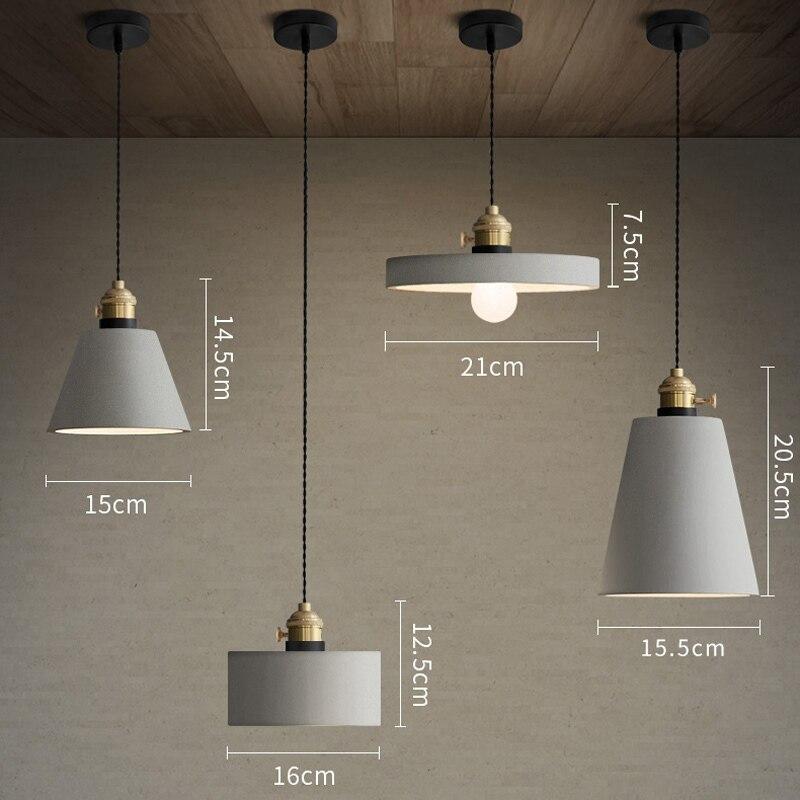 Industrie Retro Nostalgie Zement Hängen Lampe Kreative Loft Eisen Pendelleuchte E27 Cafe Bar Lichttechnik Art Deco PL684 - 6
