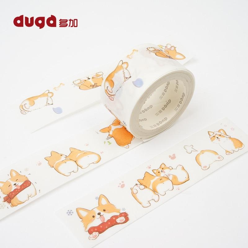 Decorative Cute Corgi Dog Print Washi Tape Diy Scrapbooking Photo Album School Scrapbooking Tools Kawaii Paper Stickers Mask