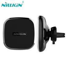 2 in 1 Magnetic Vehicle Mount Phone Holder Pad NILLKIN Qi Wireless Car Charger For Samsung