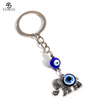 TOMYE יוניסקס Keyrings רסיס מתכת פיל תליון Keychain Key19S028(China)