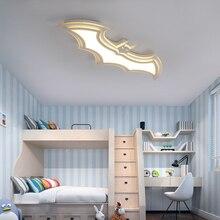 แบทแมนนำโคมไฟเพดานสำหรับห้องเด็กห้องนอนระเบียงหน้าแรกธันวาคมAC85 265Vคริลิคที่ทันสมัยนำโคมไฟเพดานสำหรับchildroomห้อง