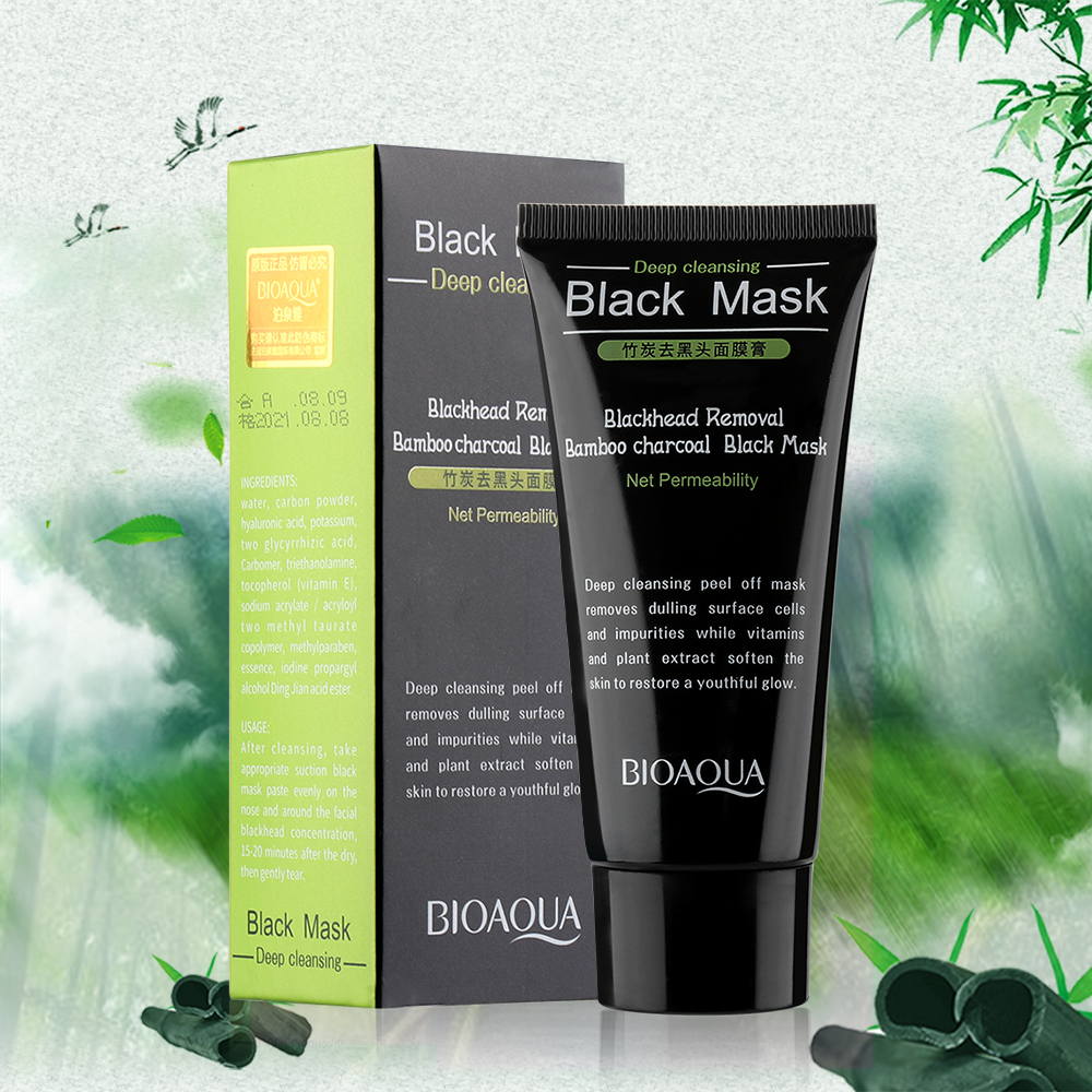 Blackhead Cleansing Remover Mask Bamboo Charcoal Blackhead: Bamboo Charcoal Deep Cleansing Blackhead Removal Face Mask