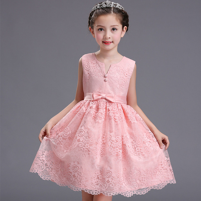 2017 superior quality New Baby Kids Girls Party Gown Formal Dress ...