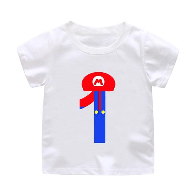 Super Mario 3 9 Years Old Boy And Girl Happy Birthday Children 1 Round Neck Shirt Cotton Childrens Best Gift