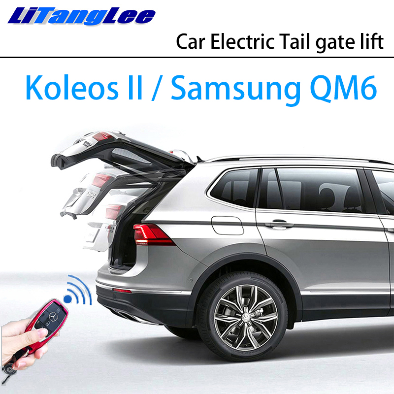 LiTangLee Car Electric Tail Gate Lift Trunk Rear Door Assist System For Renault Koleos II Samsung QM6 2016~2019 Remote Control