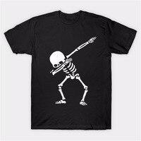 Dabbing Pug Cat Skeleton Unicorn Panda Zebra Funny Tshirt Hip Hop Men S Tees Big SizeS