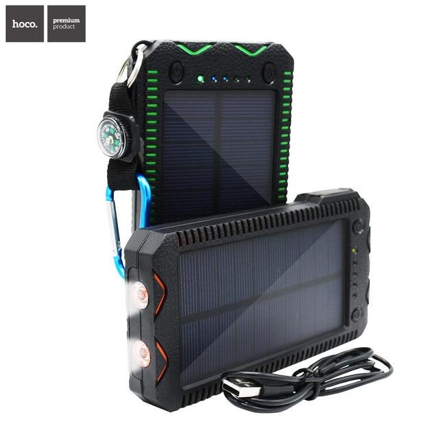 НОСО Мода Солнечной Энергии Банк С Dual USB 12000 мАч Внешняя Батарея Портативное Зарядное PowerBank для Мобильного телефона Зарядное Устройство