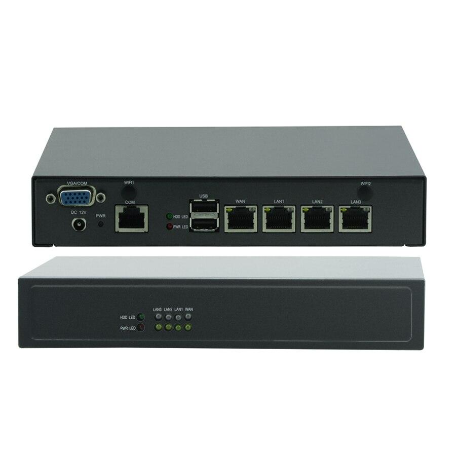 Mini pc celeron j1900 quad core de control industrial escritorio wan firewall de