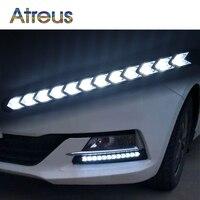 Atreusรถนำแสงวันสำหรับออดี้a4 b6 a3 Infiniti BMW e46 e39 VWอุปกรณ์เสริมโปโล1คู่DRLโคมไฟตัดหมอกสี