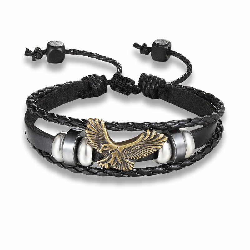 CCD 2018 New Fashion czarny Punk kotwica bransoletka mężczyźni Charm Chain bransoletka męska dopasowana bransoletka Metal Sport haki bransoletki i Bangles kobiety
