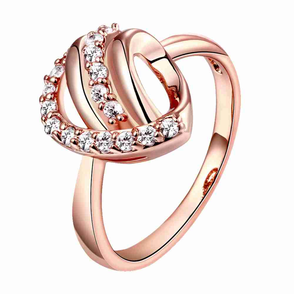 Hot sell Newest women jewelry Gold Plating rings for men Half of heart ring men joyas