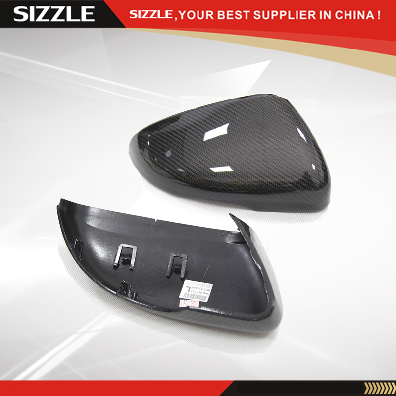 Replacement Carbon Fiber Car Side Mirror Cover For Volkswagen VW Golf 6 MK6 GIT R20 Touran 2008-2012 carbon fiber side wing mirror cover caps for volkswagen vw golf mk5 2005 2007