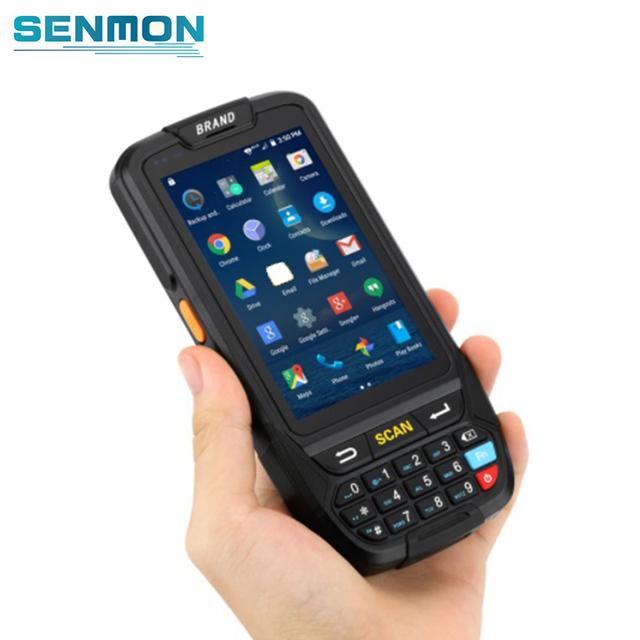 Wysoka pojemność baterii 4000mA skaner kodów kreskowych Android Terminal ręczny PDA z 2D Czytnik kodów kreskowych