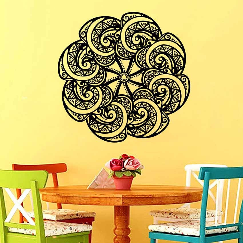 In Sale Vinyl Wall Art Decals Namaste Om Mandala Ornament Moroccan ...