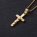 New style Fashion Jewelry Neutral Gold Plated Cross Luxury Men Long Choker Necklaces & Jesus Pendants for Women and Girls Gift