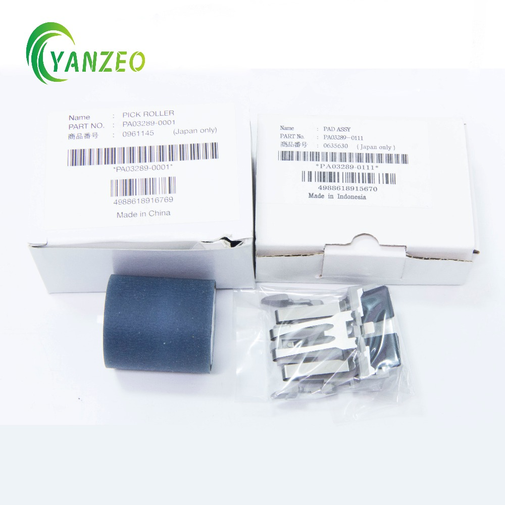 купить New PA03289-0001 PA03289-0111 for Fujitsu fi-5120C 5220C 4120C 6010N Pick Roller+Pad онлайн