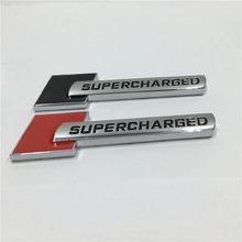 Coche de Metal cromado insignia emblema sobrealimentado lado logotipo delantero etiqueta para Audi a6 A6L A7 A8L Q5 Q7 A4L