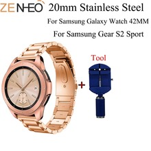 Stainless Steel Watchband For Samsung Galaxy Watch 42mm Classic Smart Watch Band Wrist Strap Link Bracelet with Adjustment Tool the link adjustment tool for stainless steel strap simple easy operation dismounting tool