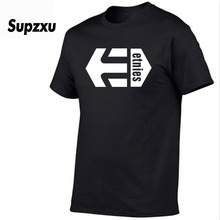 2019 Summer New Print Etnies T-Shirt Men's Black and White 100% Cotton T-Shirt Summer Skateboard T-Shirt Boy Skateboard T-Shirt все цены