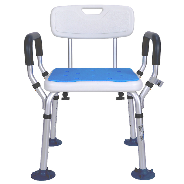 12 Aluminum Alloy Shower Chair Bathroom Chairs For Handicap Disabled Elderly Height Adjule Medical Bath Seat Foot Stool