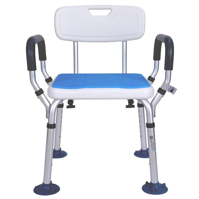 12% Aluminium Legierung Dusche Stuhl Bad Stühle Für Handicap Behinderte Ältere Höhe Einstellbar Medizinische Bad Sitz Fuß Hocker Die Neueste Mode