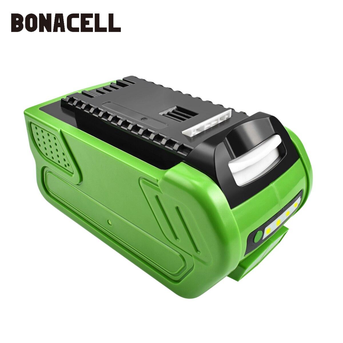 Bonacell 40 V 6000 mAh batterie de remplacement Rechargeable pour le plus créatif 40 V 200 W GreenWorks 29462 29472 22272 G-MAX GMAX L30
