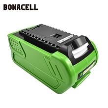 Перезаряжаемая сменная батарея bonacell 40 в 6000 мАч для Creabest 40 В 200 Вт GreenWorks 29462 29472 22272G MAX GMAX L30