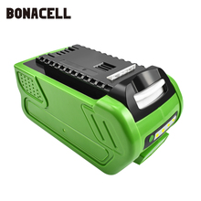 bonacell 40V 6000mAh Rechargeable Replacement Battery for Creabest 200W GreenWorks 29462 29472 22272 G-MAX GMAX L30