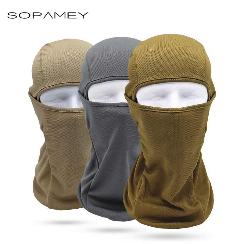 SOPAMEY Quick-Drying Breathable Balaclavas Full Face Mask Motorcycle Bicycle Hat Tactical Army Airsoft Winter Cap Helmet Liner brand new skull skeleton army airsoft tactical paintball full face protection mask