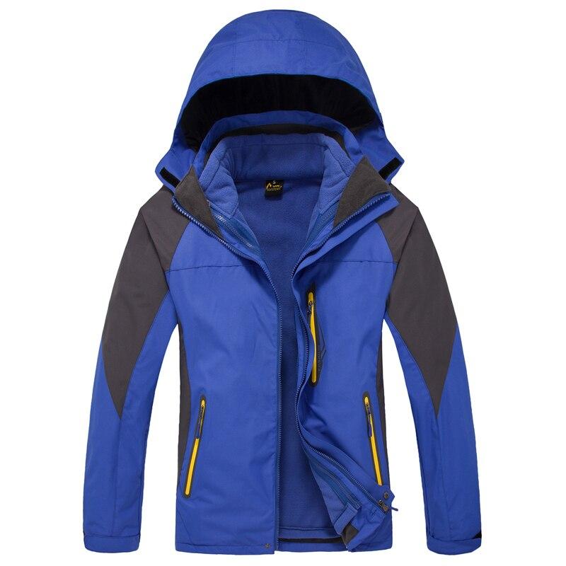 ФОТО Dropshipping Brand Waterproof Hiking Men's double layer winter windbreaker military outerwear coats outdoor sportswear jacket