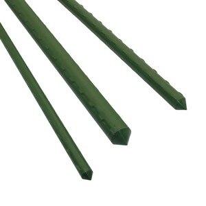 Image 1 - 農業クライミング植物サポート温室園芸柱プラスチックコーティングされた鋼管ガーデントレリス花のサポート 12 個