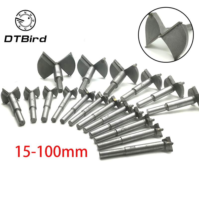 Forstner Wood Auger Drill Bit Self Centering Hole Saw Cutter Woodworking Tools Set 15mm,20mm,25mm,30mm,35mm Hinge Forstner Bits