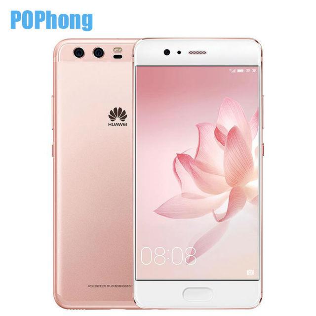 Stock 5.1 inch Huawei P10 4GB RAM 64GB ROM Kirin 960 Octa Core Cell Phone EMUI 5.1 Fingerprint Dual SIM 20.0MP+12.0MP+8.0MP